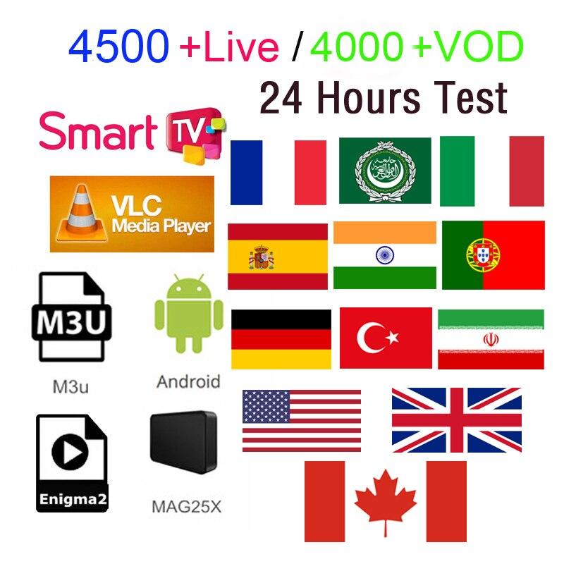 French IPTV m3u IPTV subscription 4500 Channels Arabic UK India Italian France 4K 1080P Quality Support