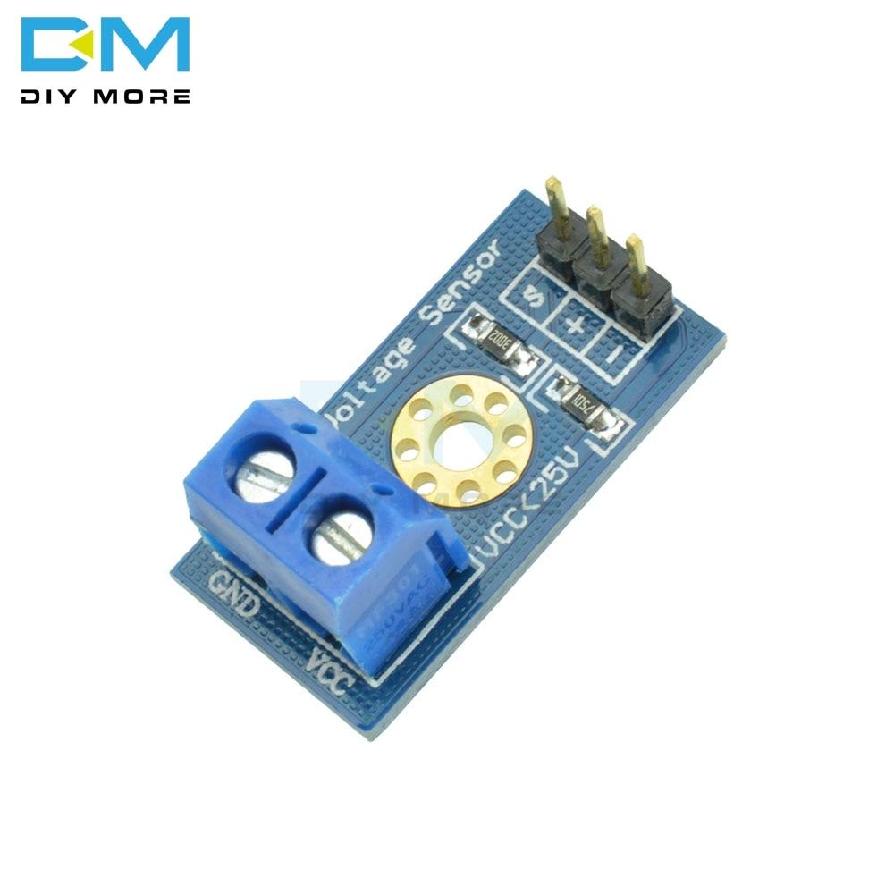 5 шт. стандартный модуль датчика напряжения тестовые электронные кирпичи для робота для Arduino принцип резистивного делителя напряжения диза...