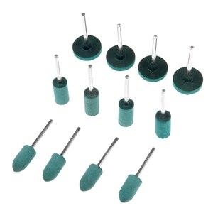 Image 2 - DRELD 3 Teile/los Gummi Schleifen Kopf Polieren Polieren Rad für Elektrische Mini Grinder Dremel Rotary Werkzeuge Zylinder/Kugel/T Typ
