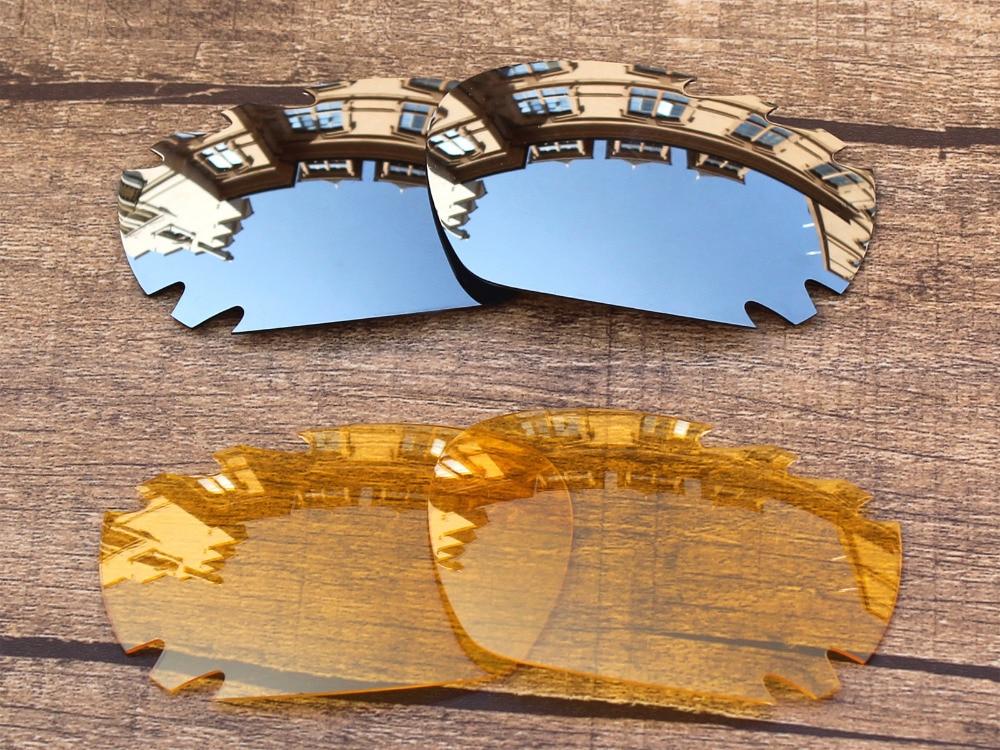 f71c7a434b8dfe Chrome Argent et Cristal Jaune 2 Paires verres de Remplacement Pour Jawbone  Ventilé lunettes de Soleil Cadre 100% UVA et UVB Protection