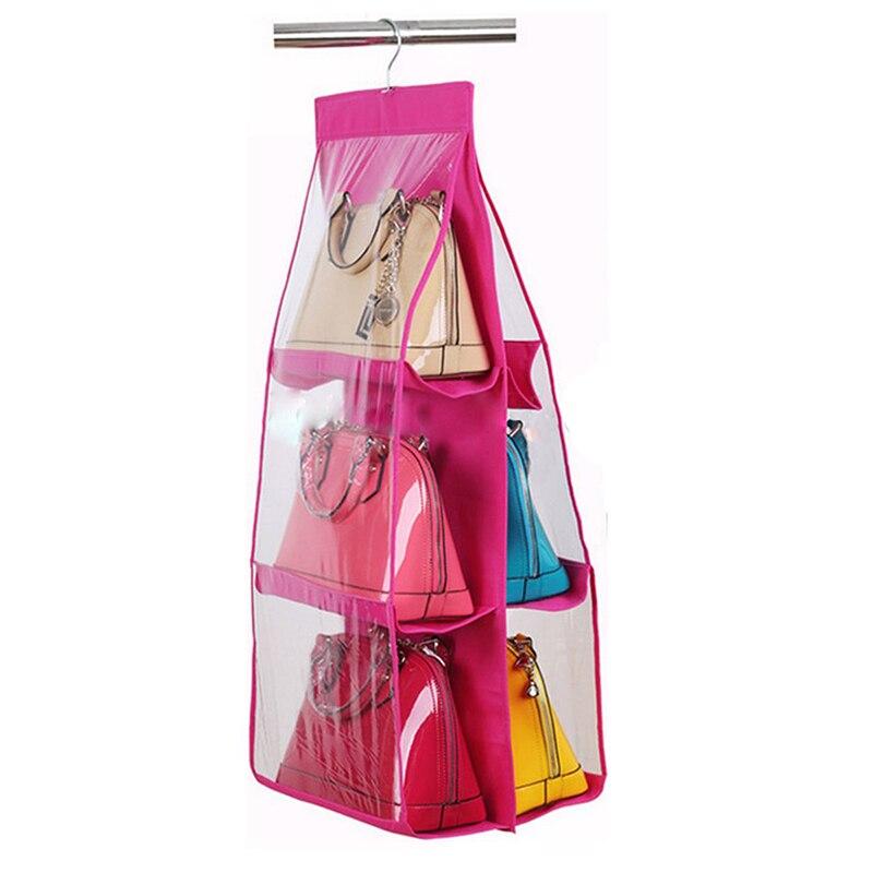 6 отсеков для хранения висячего висит органайзер для обуви, сумок сумка красная роза