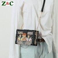 Hot Sale Women Classic Box Messenger Bag,Female Crossbody Graffiti Printing Flap Bag,luxury Brand Shoulder Bag,Lady Clutch Purse
