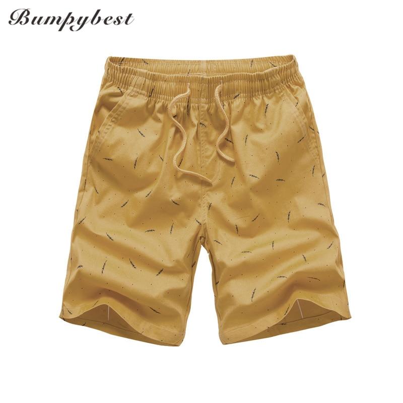 Bumpybeast 2018 бренд Для мужчин выстрел бордшорты новый человек Летняя мода печати 100% хлопок Повседневное Пляжные шорты для Для мужчин 1802