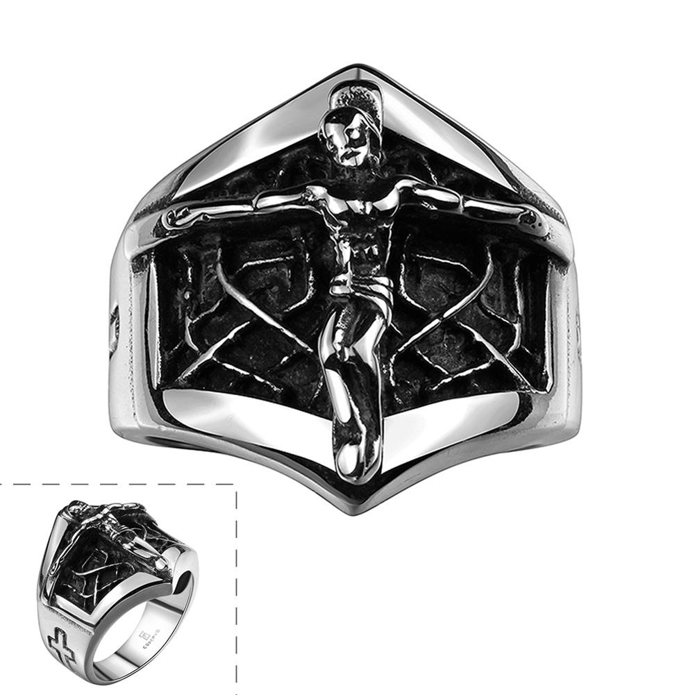 DreamBell Creative Retro Jesus Cross Ring Exaggeration Personality Fashion Finger Rings as Perfect Gift