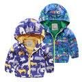 Muchacho de la capa a prueba de viento de la edición de han de nuevo fondo de 2016 del otoño niños del bebé del desgaste de los niños chaqueta de la rebeca, 7093