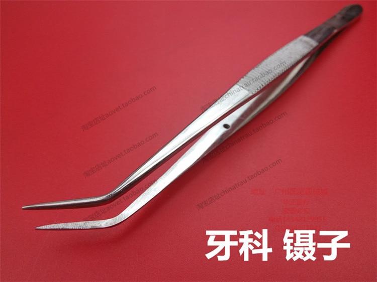 Dental stainless steel tweezers bended tweezers position tweezers grip things medical tweezers optical tweezers