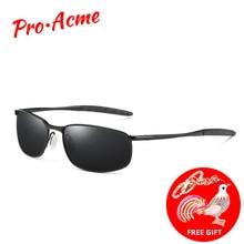 e3e361e287 Pro Acme marca gafas de sol para hombres, gafas de rectángulo de conducción  espejo deporte