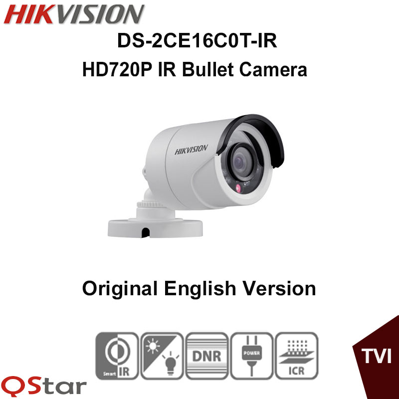 все цены на Hikvision Original English Version DS-2CE16C0T-IR HD720P IR Bullet Camera 1MP high-performance CMOS Day/Night CCTV Camera онлайн
