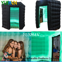 LED strip All Around Photo Booth enclosure with roof Portable Photo booth with Tassel Curtain Party Photo booth backdrop Sales