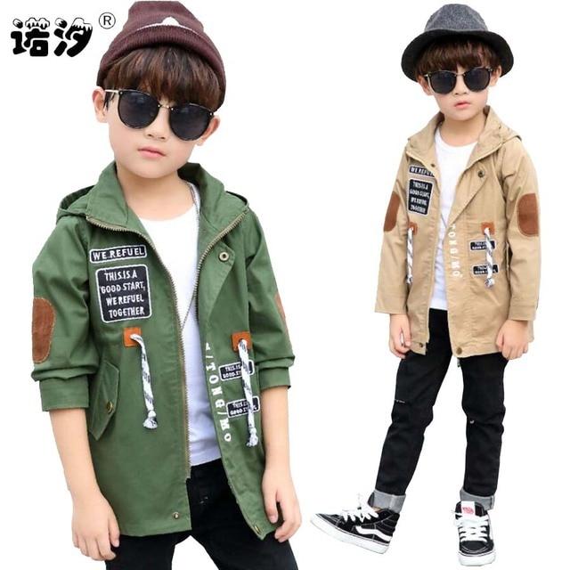 Куртка для мальчиков детская весна-осень верхняя одежда для подростков Повседневная куртка детские топы Одежда для 4-13 лет active одежда для малышей