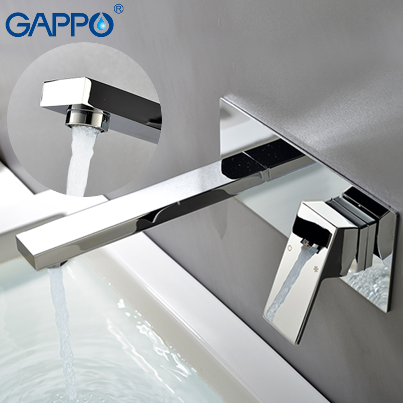 GAPPO basin faucets bathroom bath faucet mixers tap waterfall faucet water sink taps wall mounted faucets tapware torneira