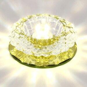 Image 4 - LAIMAIK kryształowe oświetlenie sufitowe 3W oświetlenie halowe AC90 260V lampka na ganek kryształowa lampa ledowa dynia LED sufitowe przejście światła korytarz