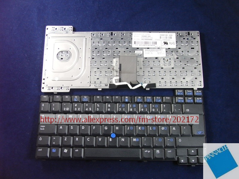 Brand New Black Laptop Notebook Keyboard 378203-091 359087-091 6037B0000408 For HP Compaq nc8220 nc8230 nc8240 series (Norway)