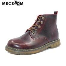 Мужские ботинки для отдыха в британском стиле модные черные качество ботильоны на меху из натуральной кожи мужская повседневная обувь на шнуровке размеры 38–44 8505