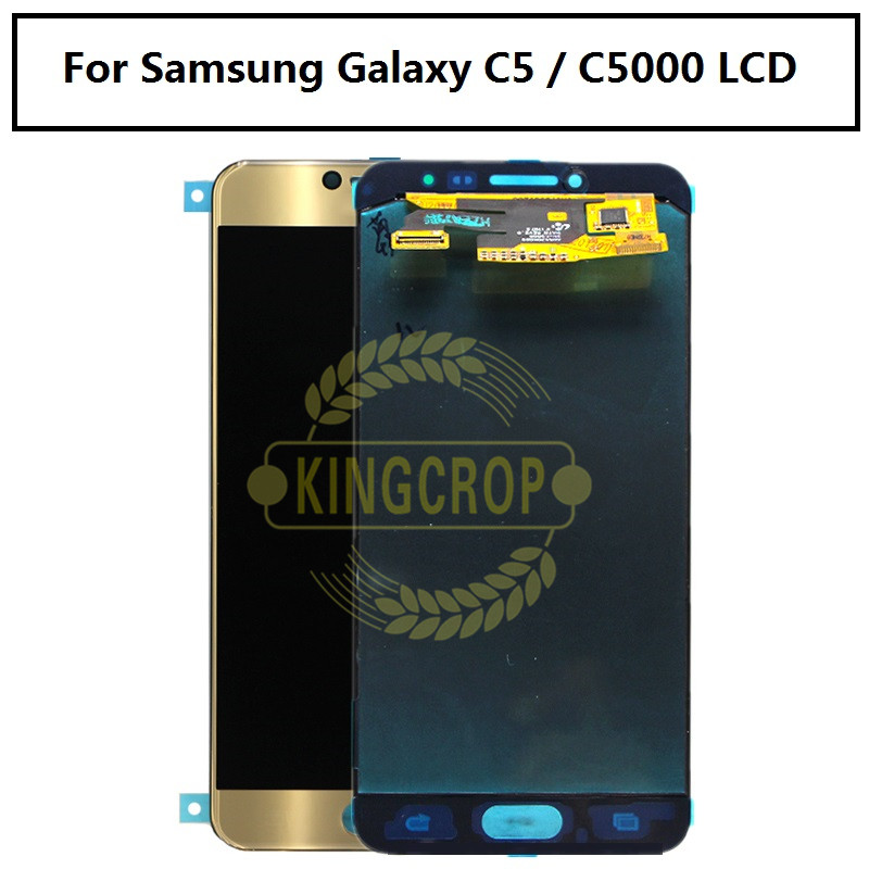 """Super AMOLED For SAMSUNG GALAXY C5 C5000 LCD Display Touch Screen Digitizer Assembly Replacement For 5.2"""" SAMSUNG C5 LCD Display-in Mobile Phone LCD Screens from Cellphones & Telecommunications    1"""