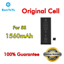 5pcs—-(Original Cell)—Battery For iPhone 5S Battery 0 Cycle Full Capacity 1560mAh Lifetime Warranty
