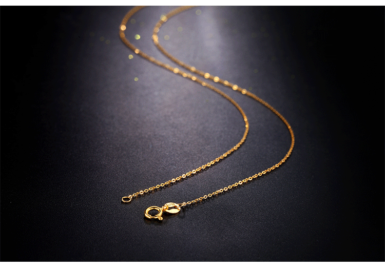 36b32779bb5b06 MINTHA Genuine 18K White Yellow Rose Gold Chain Cost Price Sale Pure 18K  Gold Necklace for love ...