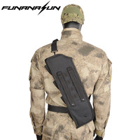Molle Tactical Hunting Breacher S Shotgun Scabbard With Shell Pouch Pistol Grip Short Barrel Rifle Case