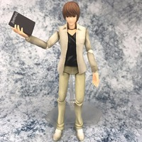 HKXZM Anime 16CM DEATH NOTE Yagami Light Figma 008 PVC Figure Collectible Toys Model Gift