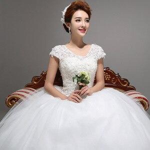 Image 4 - Новое весеннее и летнее модное свадебное платье 2020, белое свадебное платье принцессы на шнуровке в Корейском стиле, бальное платье