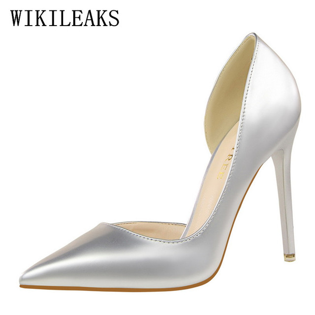 designer wedding shoes woman extreme high heels leather pumps luxury brand  bigtree shoes women stiletto salto alto zapatos mujer 8e6da30b114e