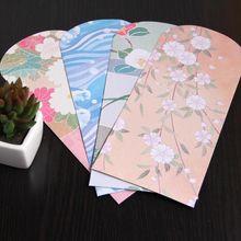 Солнце с японский стиль и окрашены конверты с индивидуальные приглашения конверты 21,8x11 см 50 шт./упак
