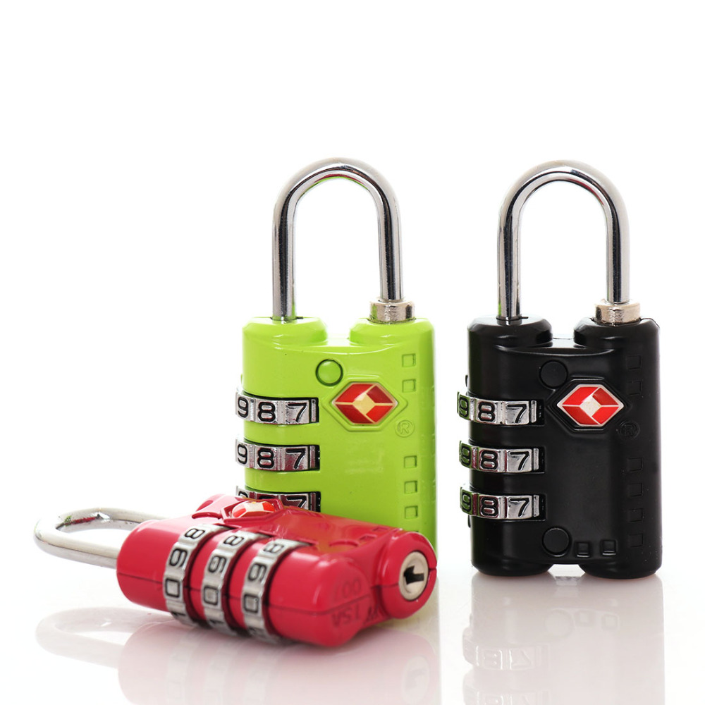 Hot Sale ! Colorful 3 Digit Number Cabinet Code Lock Combination Lock For Suitcase Backpack Padlock