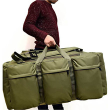 Купить с кэшбэком Men's Camo Outdoor  Backpack  Large Capacity Canvas Hiking Backpack Luggage Daily Handbag Bolsa Multifunction luggage duffle bag