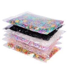 Hot Sale 3000pcs/bag Baby TPU Hair Holders Rubber Band Elastic Girl's Tie Gum Stationery Holder Band Loop School Office Supplies(China)