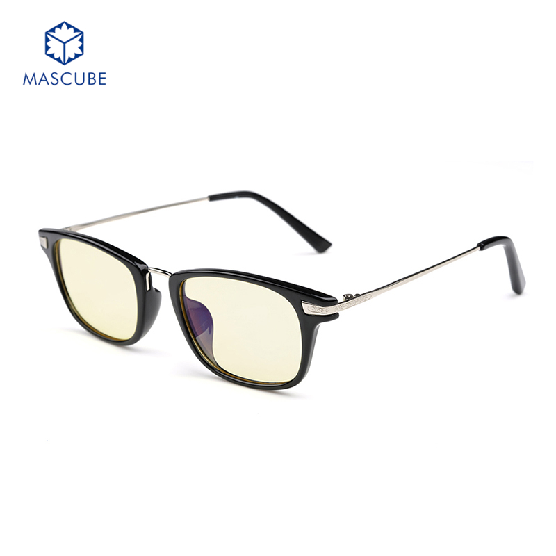 cfc91ddea9d  MASCUBE Anti-blue Frame Goggles Radiation Glasses Computer Online Game  Fashion Glasses Eyeglasses