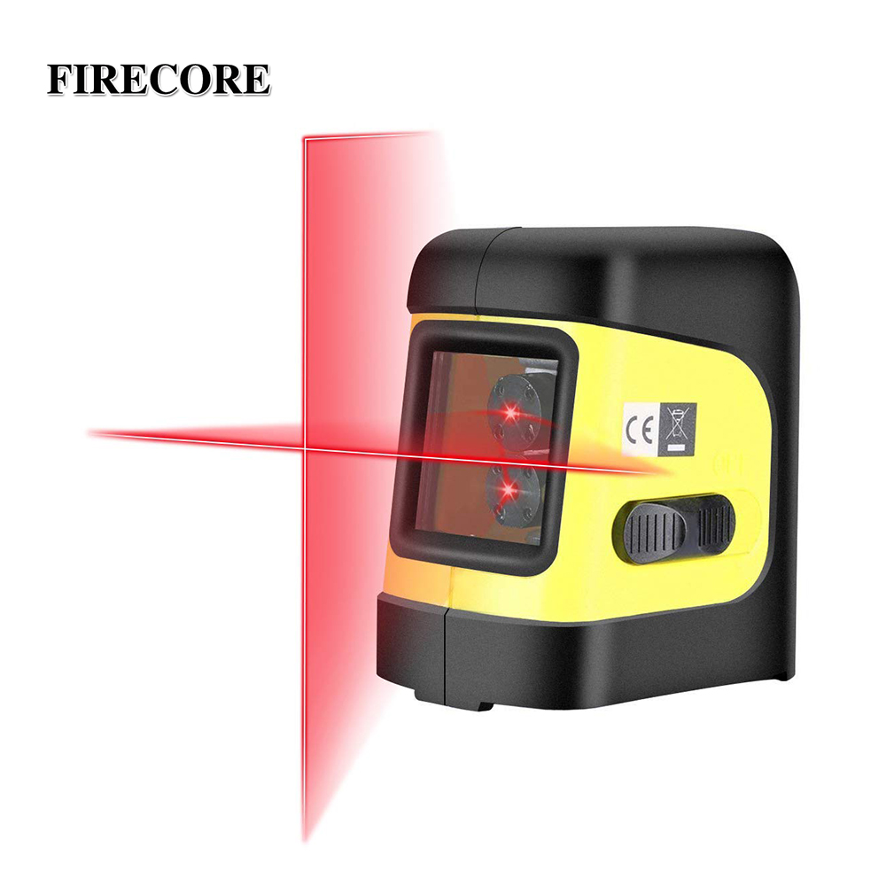 FIRECORE 2 Lines Red Green Laser Level Self Levelling 4 degrees Horizontal and Vertical Cross Line