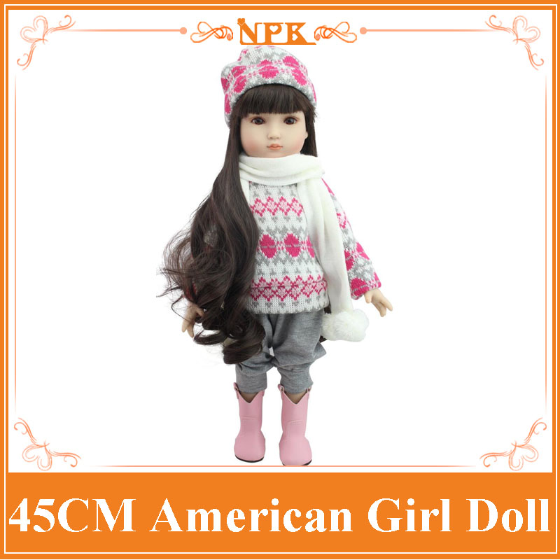 Latest 18Inch American Girl Full Vinyl Silicone Doll In Pink Sweater Reborn Baby Doll Can Enter Into Water And Bath With Kids m nt68676 2a universal hdmi dvi vga audio lcd led controller board lvds diy reuse laptop for raspberry pi