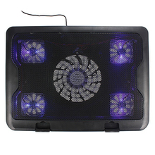 New USB Followers Blue LED Laptop computer Pocket book Cooling Pad
