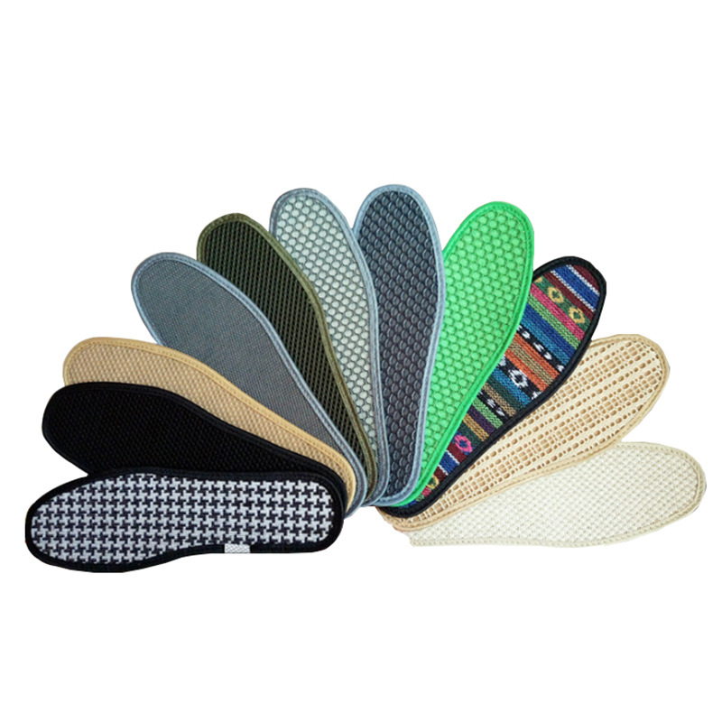 Hot new deodorant handmade bamboo charcoal orthotic insoles Thicken sweat-absorbent outdoor sports plantar fasciitis insoles image