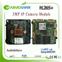 H.265 3MP 1080P אור כוכבים IP רשת מצלמה מודול 0.0001 תאורה צבעוני ראיית לילה תמונה Sony IMX291 חיישן Onvif