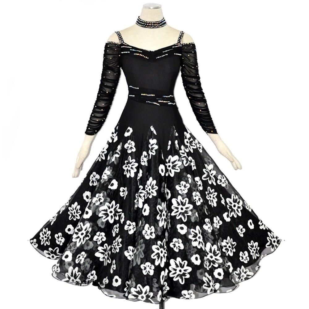 Новейшие современные танцевальные платья для женщин, тканевые платья черного цвета, сексуальные, профессиональные, красивые, женские, для б