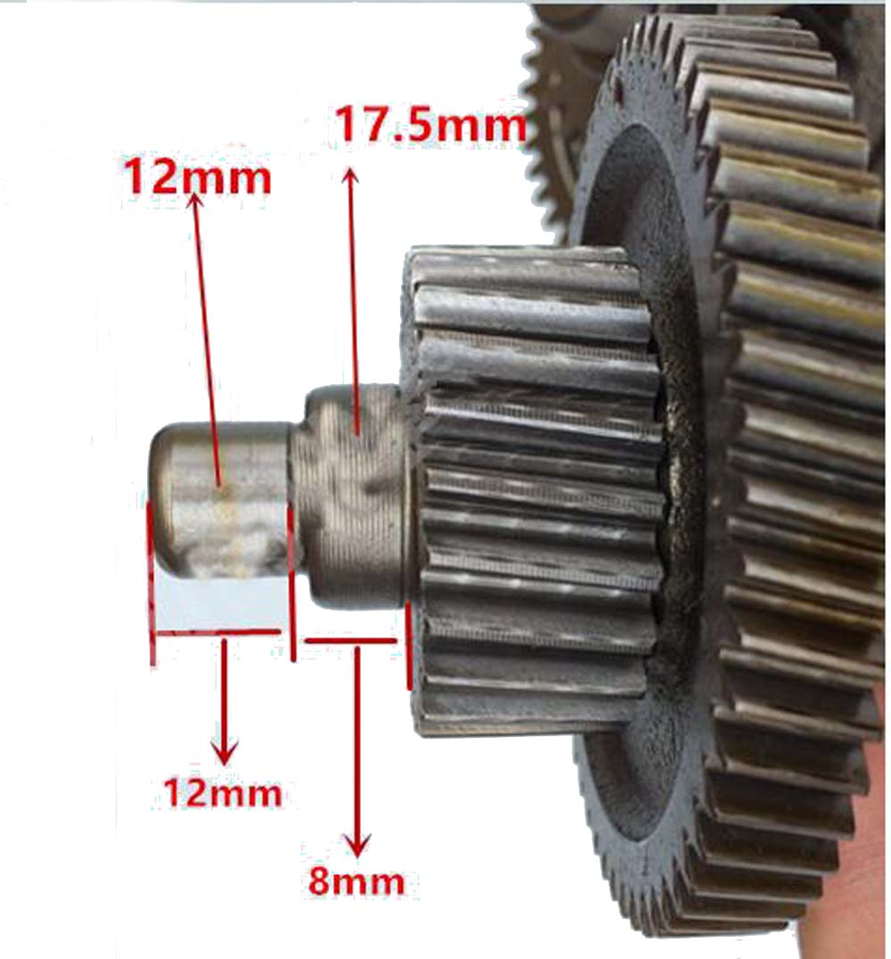 Triciclo elettrico Auto 71 Dente Cornici e articoli da esposizione Albero Motore di Assemblaggio Scatola del Cambio Differenziale Tooth Pignone Doppio Ingranaggio