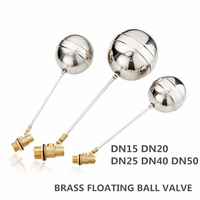 New Stainless Steel DN15 DN20 DN25 DN40 DN50 1/2'' 3/4'' Inch Float Ball Valve Switch Water Tank Water Tower Flow Control Valve