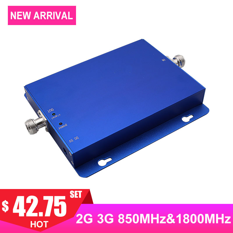 2G 3G 4G 850MHz 1800MHz Cellular Signal Booster Band3 Band5 CDMA DCS FDD Internet Cellphone Communication Signal Amplifier >