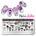 Nee Jolie Прямоугольник Ногтей Штамп Шаблон Япония Стиль Дизайн Плиты Изображения NJX-005 12*6 см
