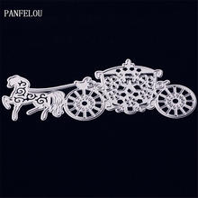 PANFELOU Elegant carriage metal crafts paper die cutting dies for Scrapbooking/DIY wedding Halloween Hand account cards(China)