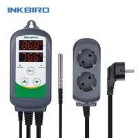 Inkbird EU ITC 308 LCD Digital Thermometer Fridge Freezer Temperature Meter Heating & Cooling Dual Relay Temperature Controller