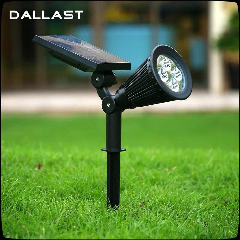 Led Solar Lights Outdoor Solar Pannel Spotlight Garden
