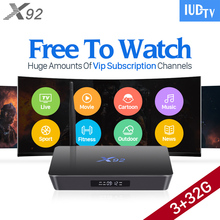 4K Sweden IPTV Europe 3GB X92 Smart Android 6.0 TV Box IUDTV Code Subscription IPTV French Turkish Arabic IPTV Top Box(China)