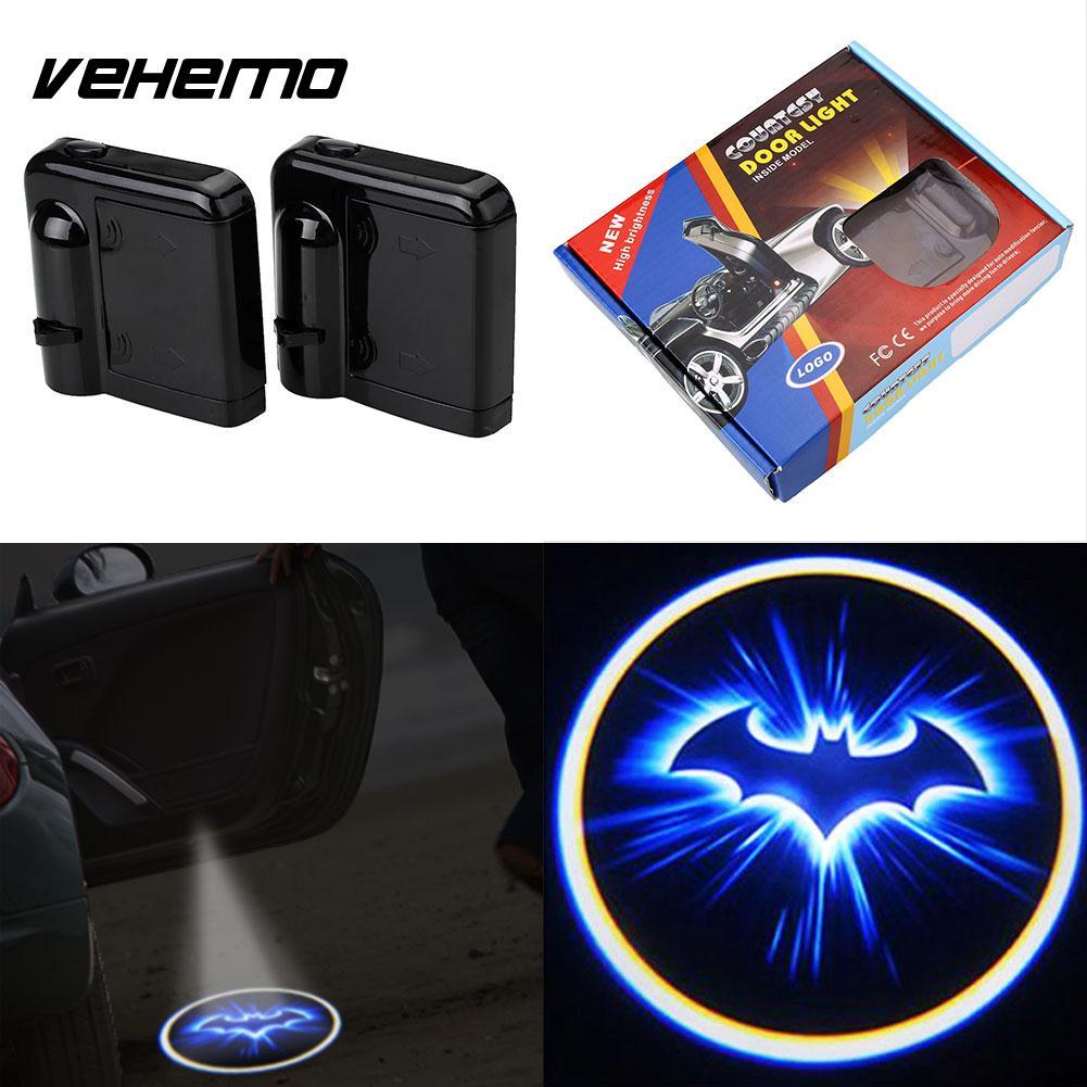 2pcs Led Car Door Welcome Laser Projector Batman Pattern Ghost Shadow Light