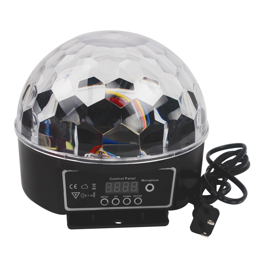 9 Colors 27W Party Disco DJ Bar Bulb Lighting Show  Stage Lighting Effect LED Crystal Magic Ball Light US EU Plug mini rgb led crystal magic ball stage effect lighting lamp bulb party disco club dj light show lumiere