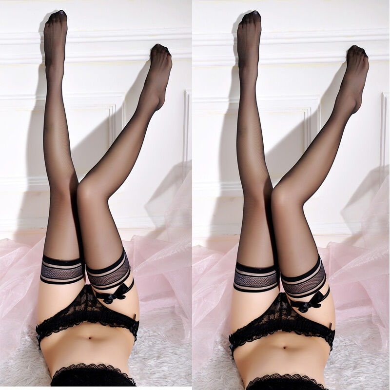 Women Lace Sexy Girls Lady Ultrathin Sheer Silk Over Knee Thigh High Hosiery Sexy Lingerie Tights Stockings Pantyhose