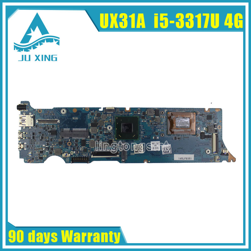 все цены на  UX31A For ASUS Laptop Motherboard UX31A2 REV4.1 2.0 Mainboard with i5 3317U 4GB Fully Tested 90 days warranty  онлайн