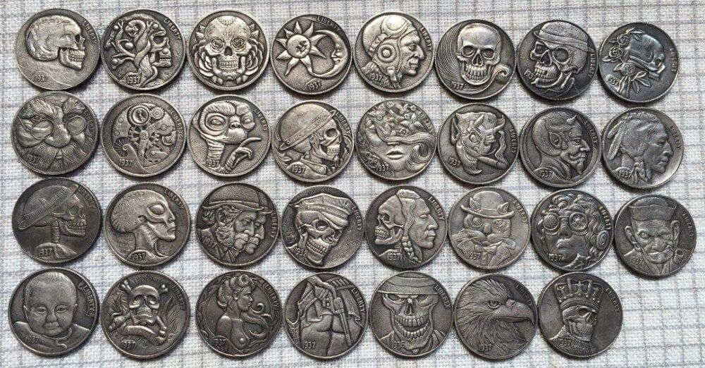 Hobo Nickel 31 COINS LEGGED BUFFALO NICKEL COIN COPY