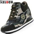 Keloch Femininos Sapatos Casuais 2016 Outono Inverno Nova Marca de Moda de Alta-Top Camuflagem Mulheres Sapatos Conforto Aumentar Sapatos